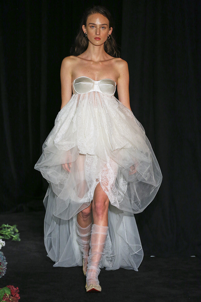 Model on the catwalkDanielle Frankel Show, Runway, Fall 2020, New York Bridal Week, USA - 04 Oct 2019