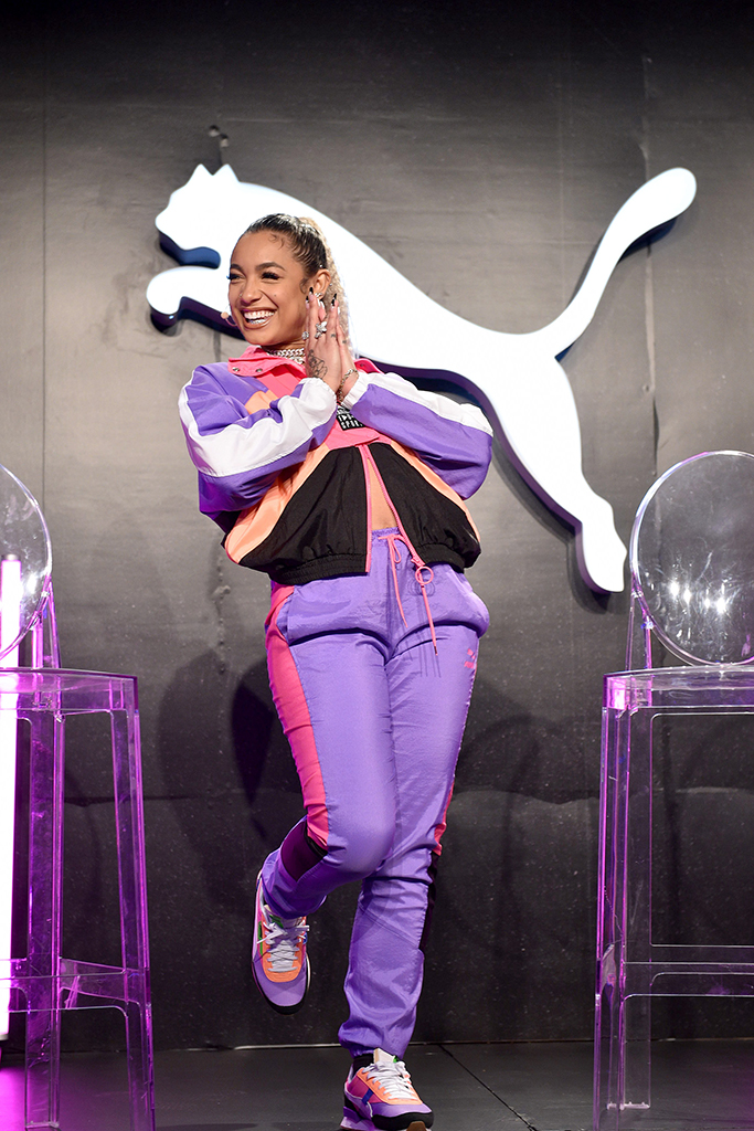 NEW YORK, NEW YORK - JANUARY 29: DaniLeigh appears onstage during the PUMA SS20 Women's Event on January 29, 2020 in New York City. (Photo by Bryan Bedder/Getty Images for PUMA)