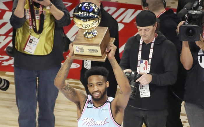 Derrick Jones Jr., miami heat, nba, all star weekend, slam dunk contest, winner