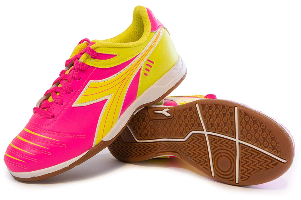 diadora girls indoor soccer shoes