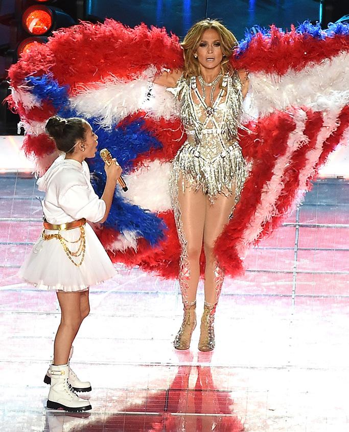 Jennifer Lopez and Emme Maribel MunizSuper Bowl LIV, Halftime show, Hard Rock Stadium, Miami, USA - 02 Feb 2020