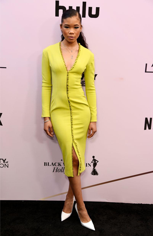 storm reid, yellow dress, essence, black women in hollywood awards
