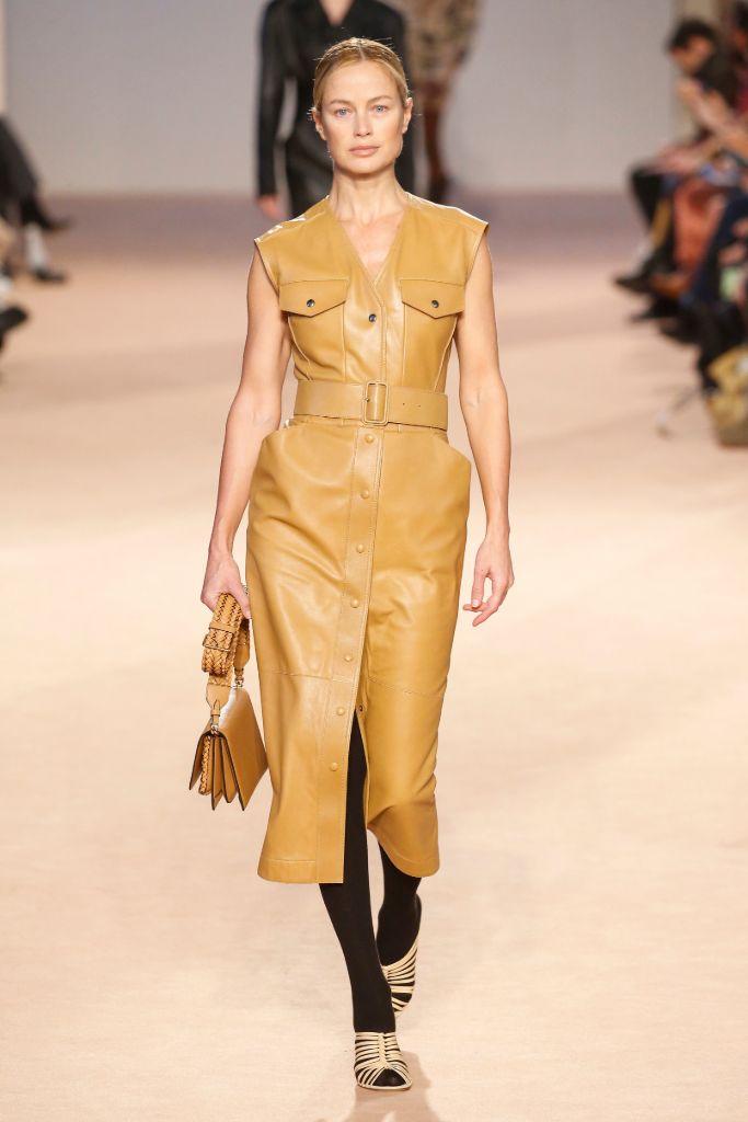 ferragamo, fall 2020, milan fashion week, carolyn murphy