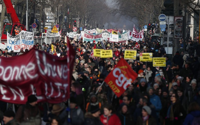french strike, pension reforms