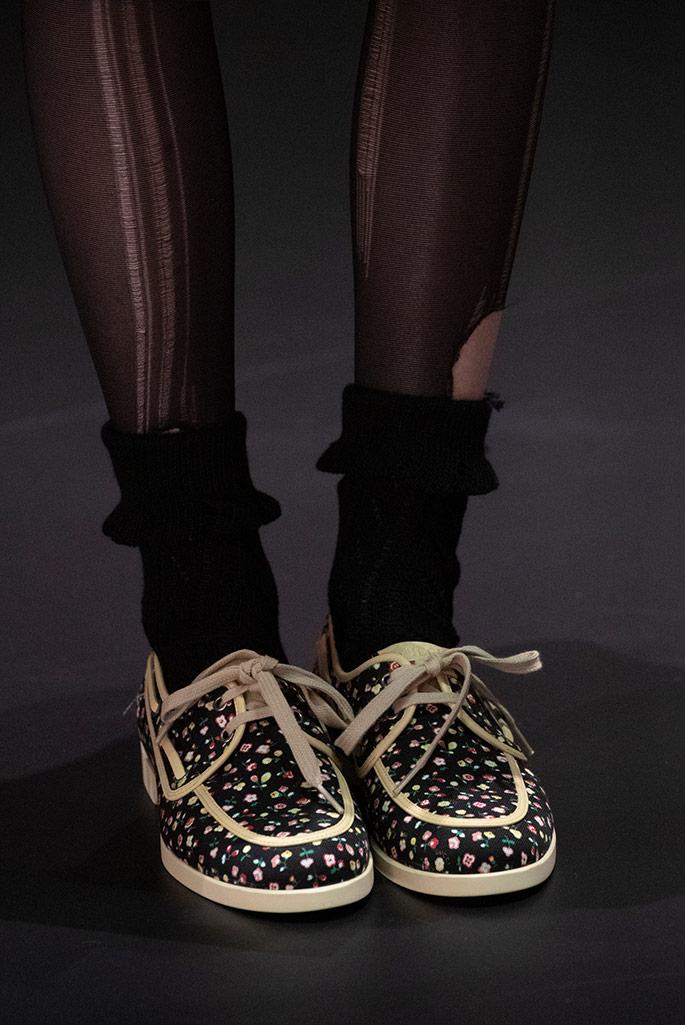 gucci, liberty print shoes