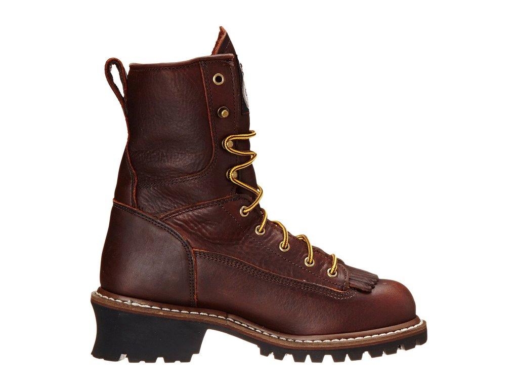 "Georgia Boot Logger 8"" Waterproof ST w/ Removable Kiltie"
