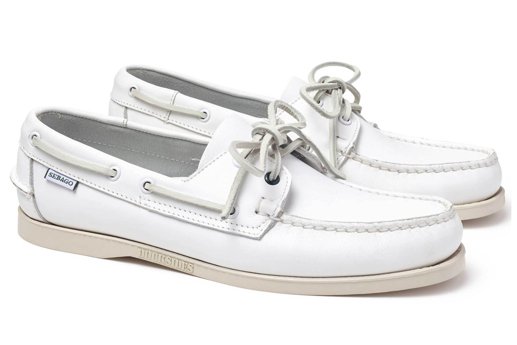Gitman Bros. x Sebago Docksides Portland, loafers, white