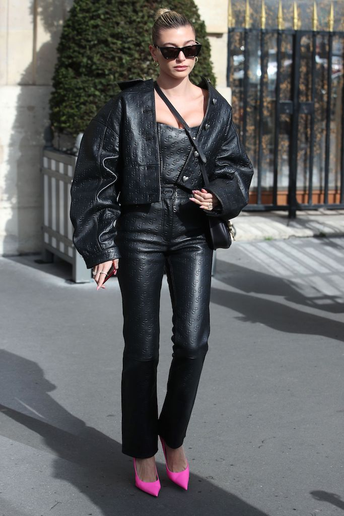 Hailey Bieber Hailey Bieber out and about, Paris Fashion Week, France - 25 Feb 2020 Wearing Saks Potts
