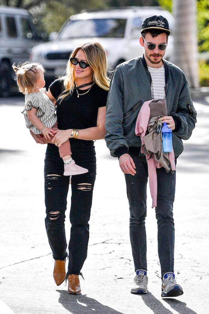 Hilary Duff, Matthew Koma and Banks Violet Bair Hilary Duff and Matthew Koma out and about, Los Angeles, USA - 21 Feb 2020