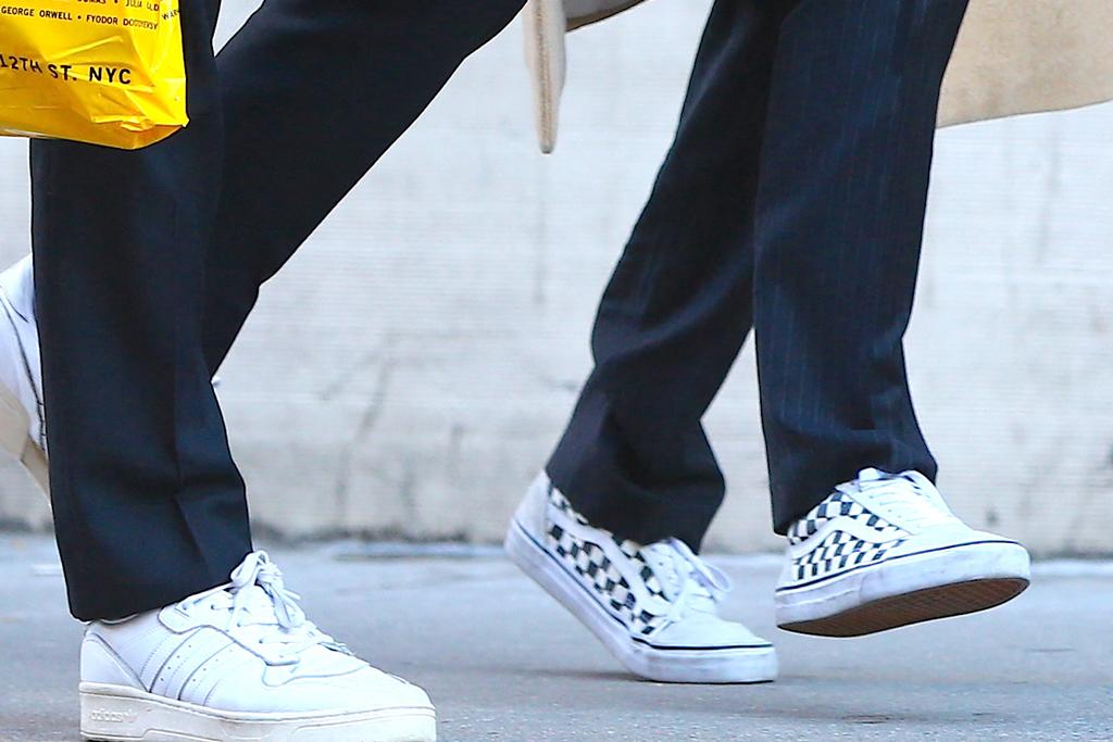 Jacob Elordi, zendaya, white sneakers, adidas, nyc, celebrity style, street style