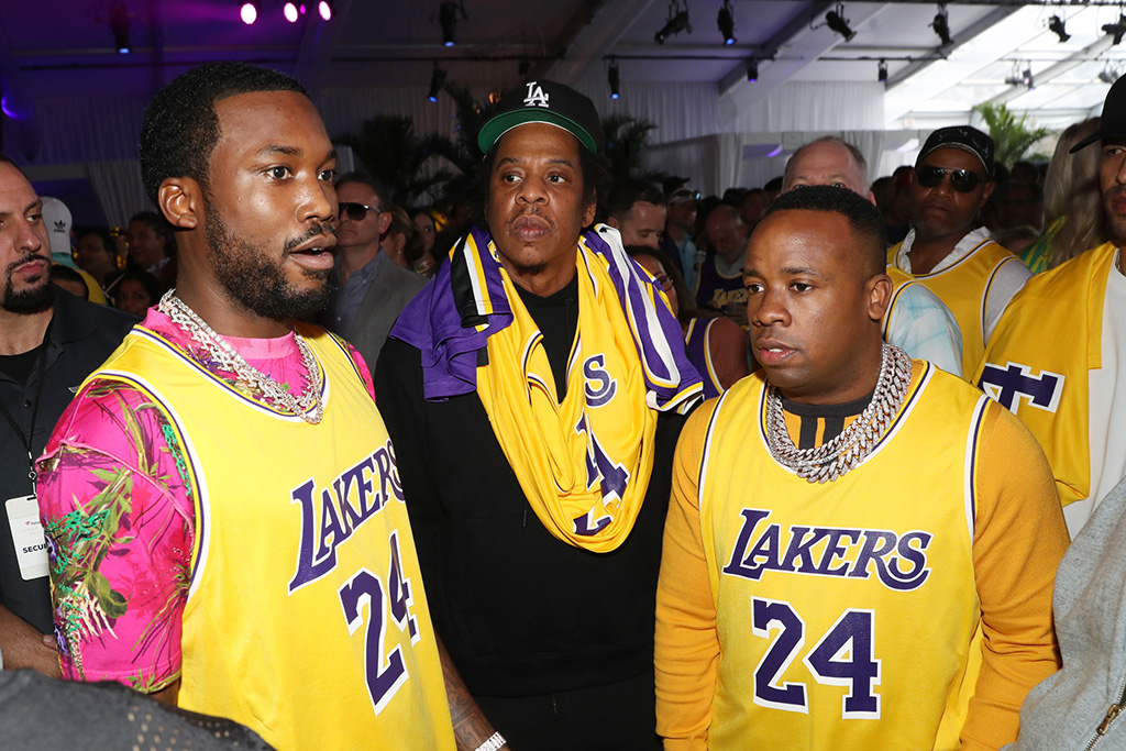 meek mill, jay z, yo gotti, super bowl, party