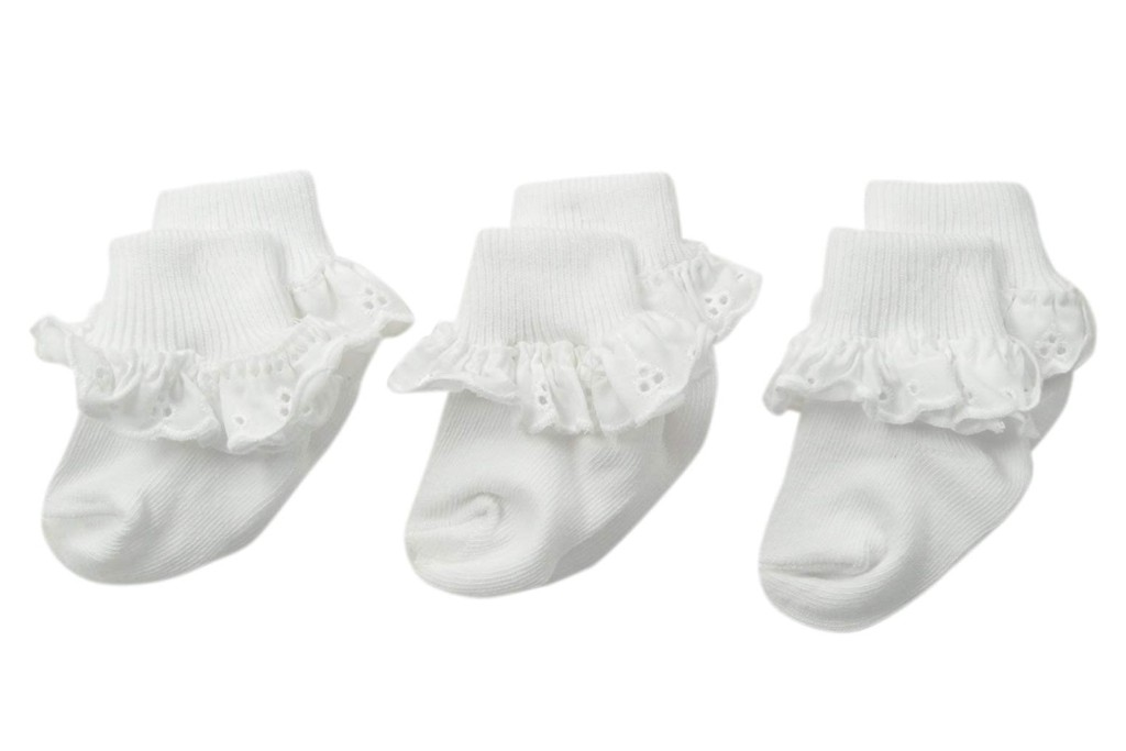 Jefferies Socks Baby-Girls Newborn Eyelet Lace Socks