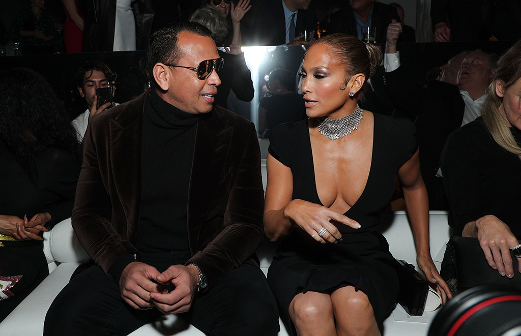 Alex Rodriguez and Jennifer Lopez in the front rowTom Ford show, Front Row, Fall Winter 2020, Milk Studios, Los Angeles, USA - 07 Feb 2020