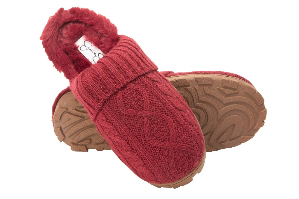 Jessica Simpson Cable Knit Slippers