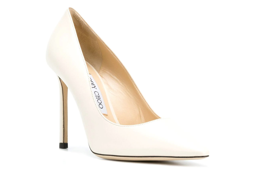 jimmy choo white pumps