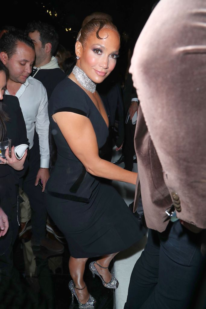 Jennifer Lopez Tom Ford show, Front Row, Fall Winter 2020, Milk Studios, Los Angeles, USA - 07 Feb 2020 Wearing Tom Ford