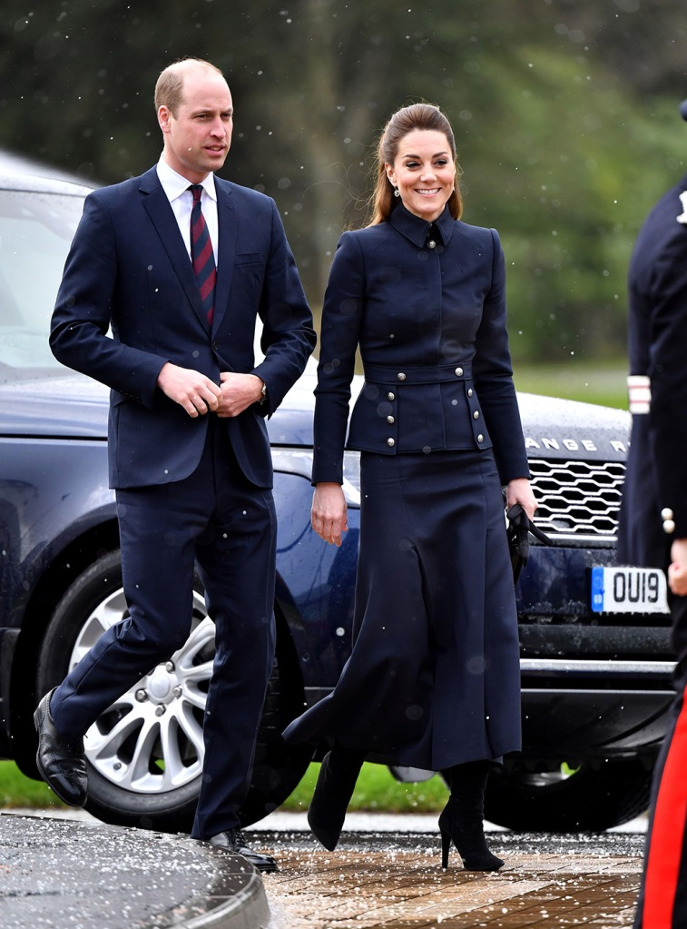 kate middleton, ralph lauren boots, alexander mcqueen handbag, alexander mcqueen coat, navy coat, black boots, Prince William and Catherine Duchess of Cambridge visit the Defence Medical Rehabilitation Centre Stanford Hall.British Royals visit to Leicestershire, UK - 11 Feb 2020The new Defence Medical Rehabilitation Centre, known as 'DMRC Stanford Hall', is operated by the Ministry of Defence (MOD) and began admitting patients in October 2018. The Centre delivers in-patient and residential rehabilitation to serving members of the Armed Forces for complex musculoskeletal disorders and injuries, including complex trauma, rehabilitation following neurological injury or illness and in-patient care for joint and soft-tissue disease.