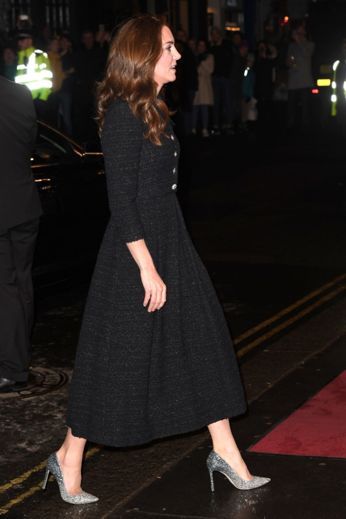 Noël Coward Theatre, kate middleton, prince william, glittery heels, dear evan hansen, dress