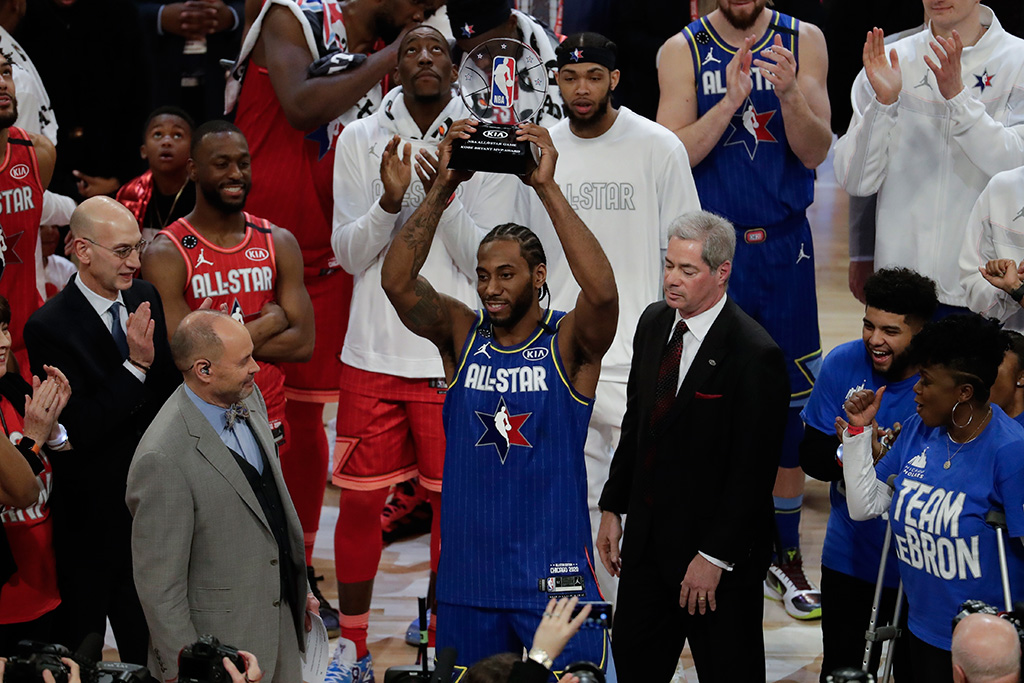 Kawhi Leonard Kobe Bryant NBA All-Star Game MVP