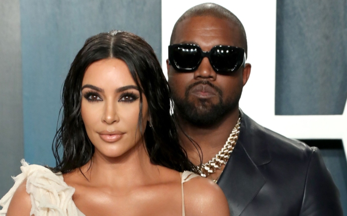 Kim Kardashian, Kanye West, vanity fair oscar party, 2020