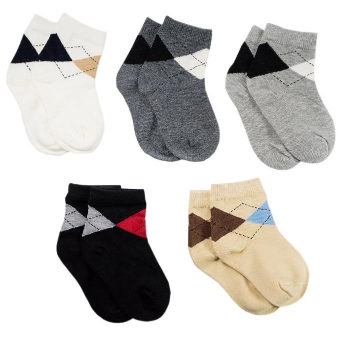 la luna bride Boys Cotton Dress Crew Socks