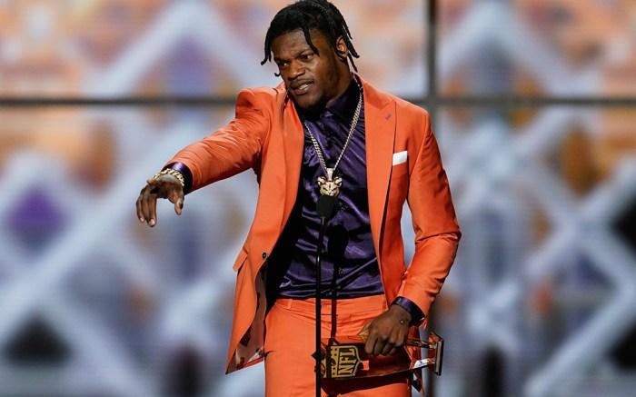 Lamar Jackson NFL Honors Most Valuable Player MVP