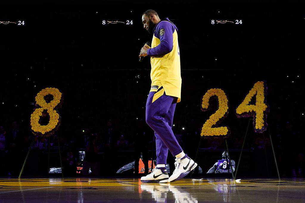 LeBron James Wears Kobe Bryant's Nike