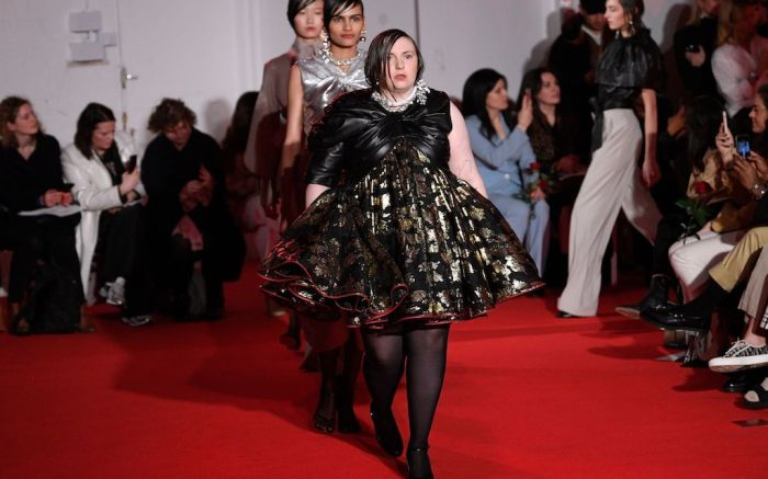 Lena Dunham and models on the catwalk16Arlington show, Runway, Fall Winter 2020, London Fashion Week, UK - 14 Feb 2020