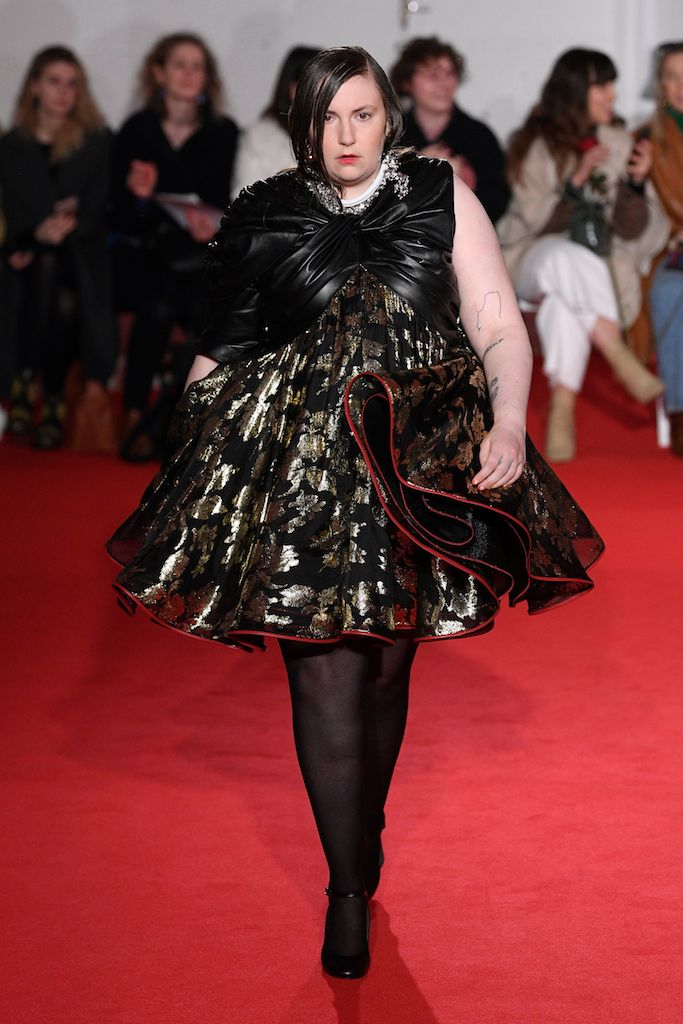 Lena Dunham on the catwalk16Arlington show, Runway, Fall Winter 2020, London Fashion Week, UK - 14 Feb 2020