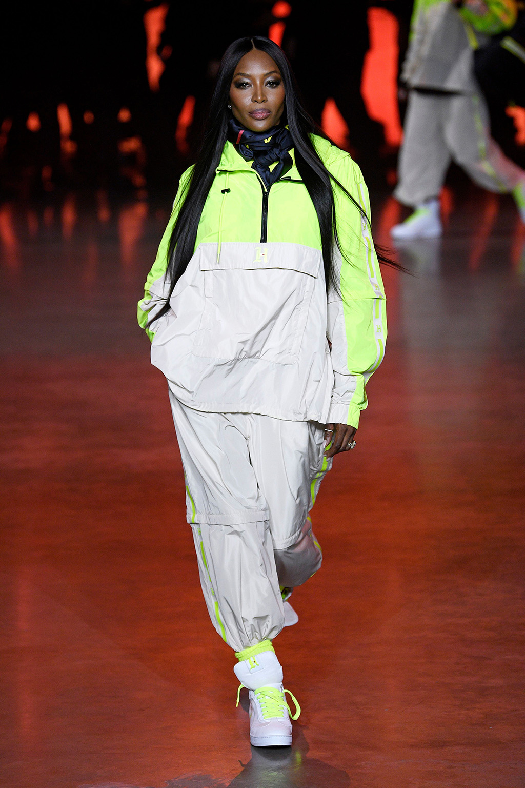 Naomi Campbell , runway, tracksuit, sneakers, on the catwalkTommy Hilfiger show, Runway, Fall Winter 2020, London Fashion Week, UK - 16 Feb 2020