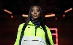 British model Naomi Campbell presents a