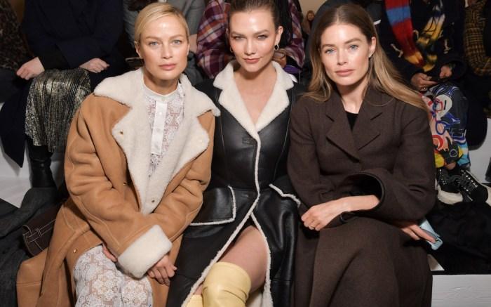 Carolyn Murphy, Karlie Kloss and Doutzen KroesLoewe show, Front Row, Fall Winter 2020, Paris Fashion Week, France - 28 Feb 2020