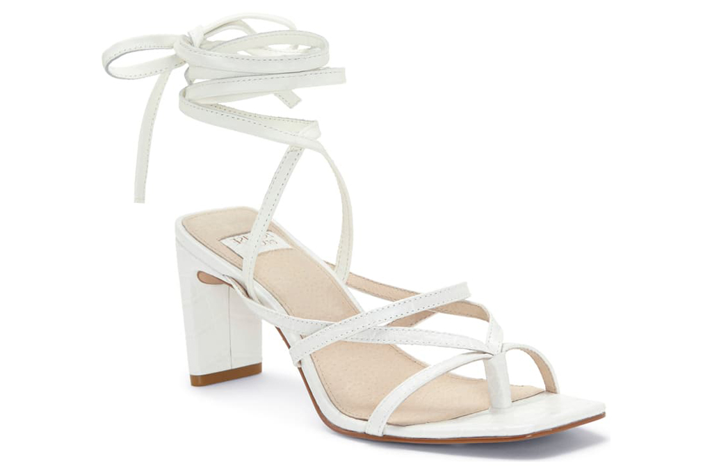 louise et cie white sandals, square toe sandals