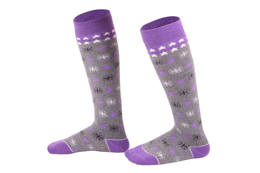 lullaby kids ski socks, ski socks for girls