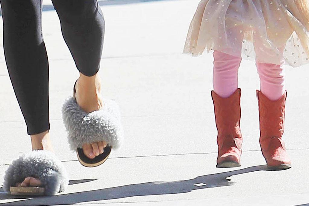 Chrissy Teigen, Luna, shoes, boots, LA