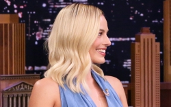 Margot Robbie, celebrity style, jimmy fallon,