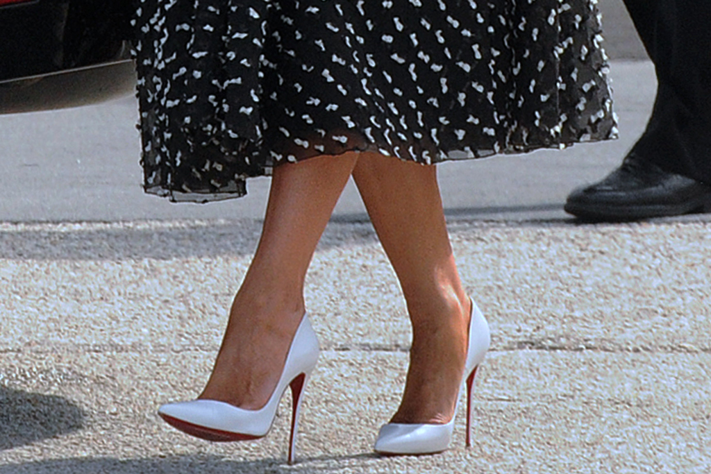 Christian Louboutin, melania trump, shoe detail, so kate