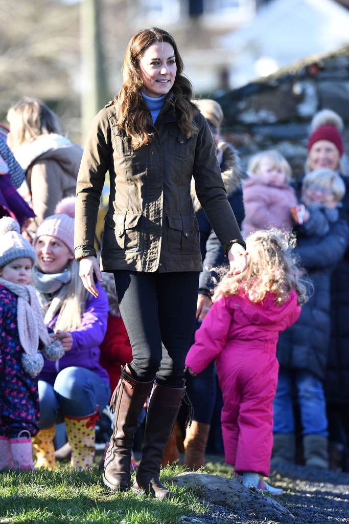 kate middleton, penelope chilvers boots, oliver coat, skinny jeans, royal fashion, celebrity style, Catherine Duchess of Cambridge at The Ark Open Farm in NewtownardsCatherine Duchess of Cambridge visit to Northern Ireland - 12 Feb 2020The visit is centred around the ongoing work of the Duchess of Cambridge, with the support of The Royal Foundation, focussing on the Early Years, which is aimed at improving children's life chances by supporting expectant parents, parents and carers of 0-5year olds, young children and their families. During her visit to the farm, HRH will met with local representatives of Early Years and families who have benefitted from the work of the charity. Young children from two local nurseries were also present. The Duchess received a guided tour of the facility, meeting with the owners and staff of the family-run farm and viewed various animals during her walkabout.