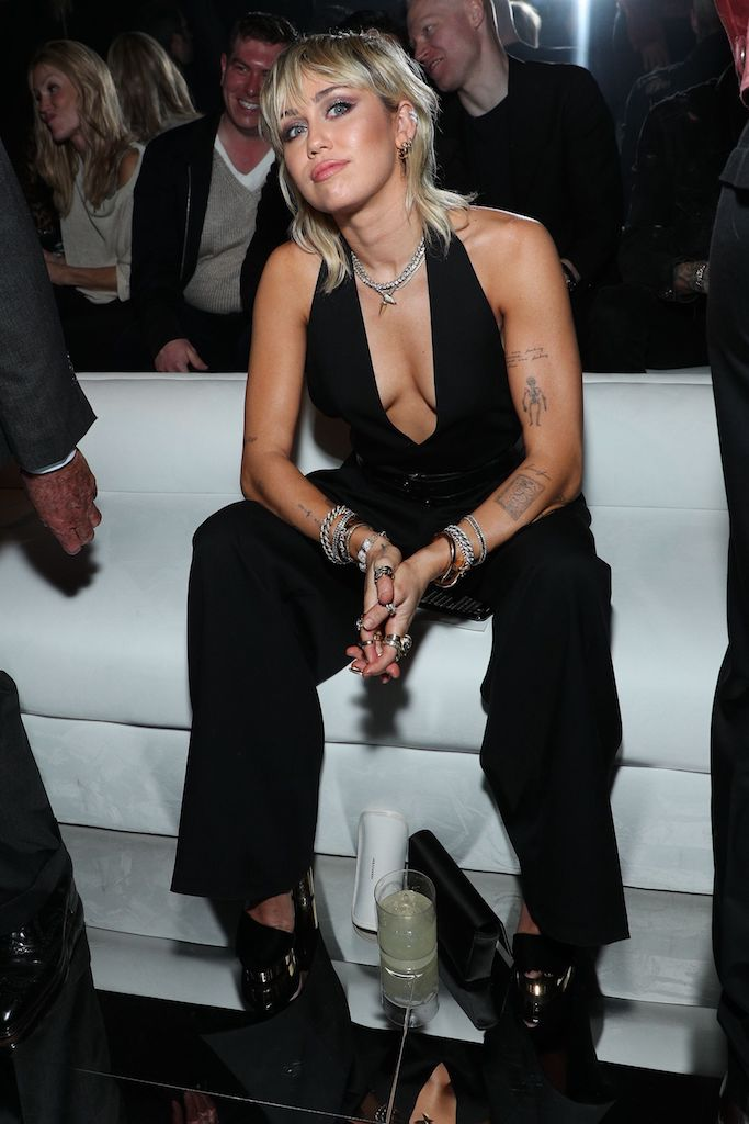 Miley Cyrus in the front row Tom Ford show, Front Row, Fall Winter 2020, Milk Studios, Los Angeles, USA - 07 Feb 2020