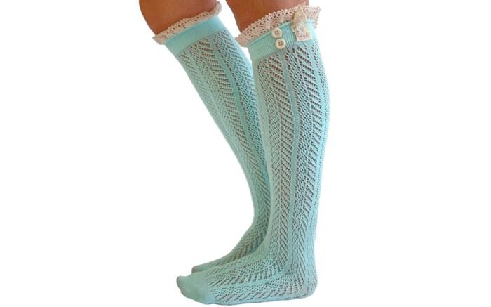 modern boho ruffle socks