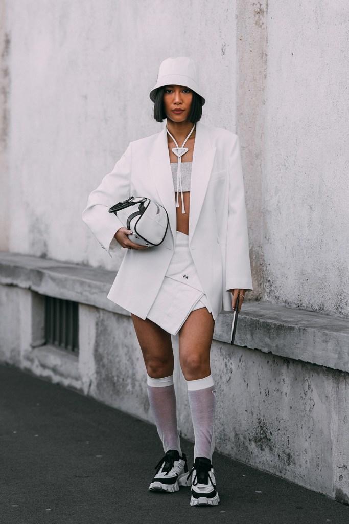 Molly Chiang , prada, street style, fall 2020, mfw