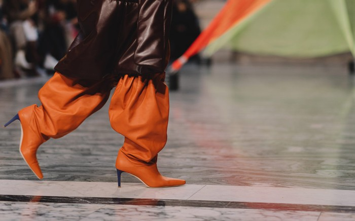 roksanda ilincic x malone souliers, fall '20, london fashion week