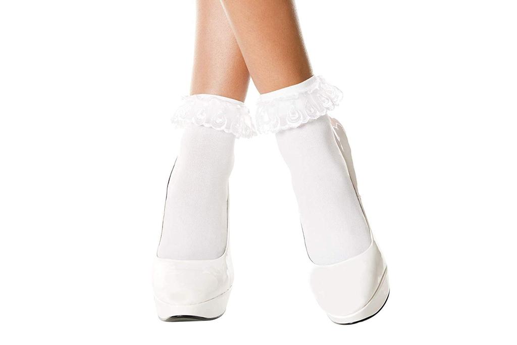 music legs ruffle socks