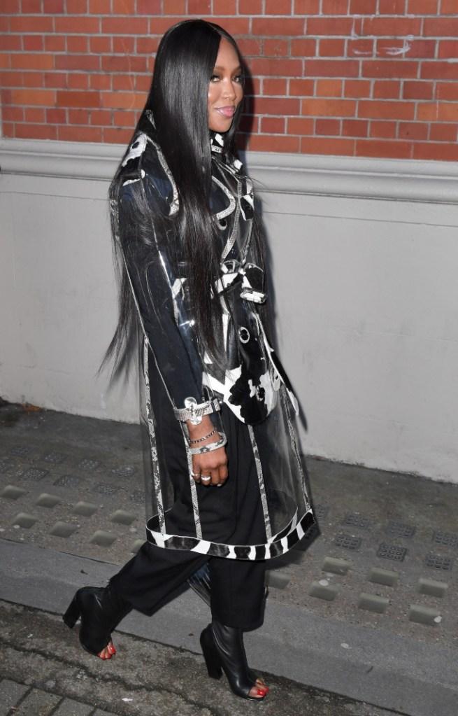 naomi campbell, london fashion week, burberry fall 2020