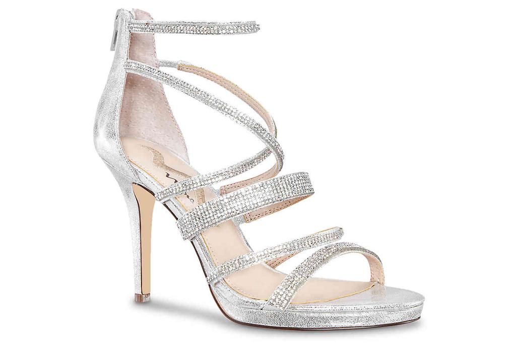 Nina, silver sandals