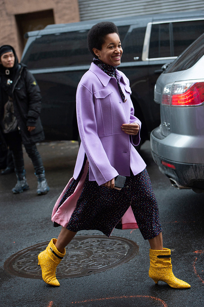 Tamu McPherson Street Style, New York Fashion Week