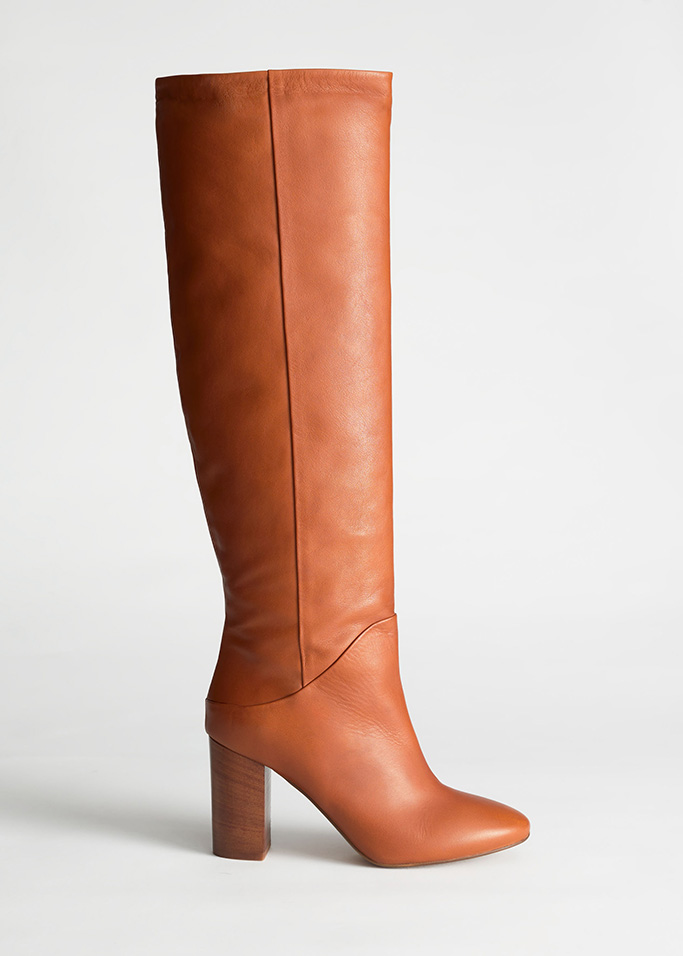 & Other Stories Tall Tan Boots