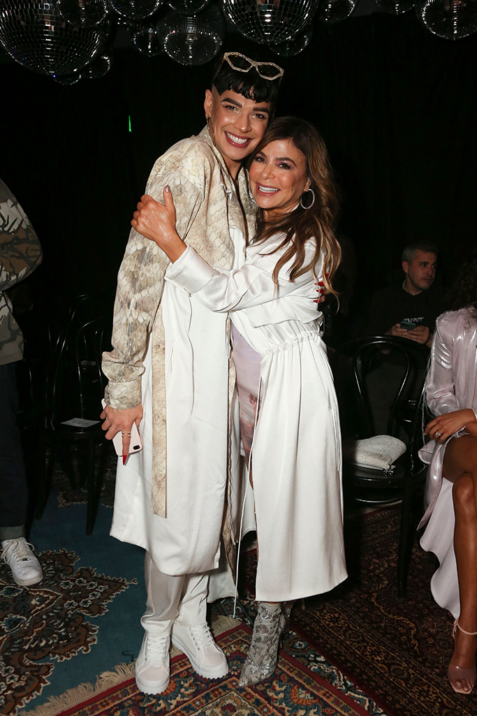 Paula Abdul (R) and guestBaja East show, Front Row, Fall Winter 2020, The West Hollywood EDITION, Los Angeles, USA - 07 Feb 2020