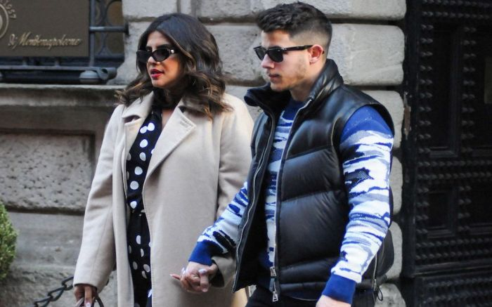 Priyanka Chopra and Nick JonasNick Jonas and Priyanka Chopra out and about, Milan, Italy - 14 Feb 2020