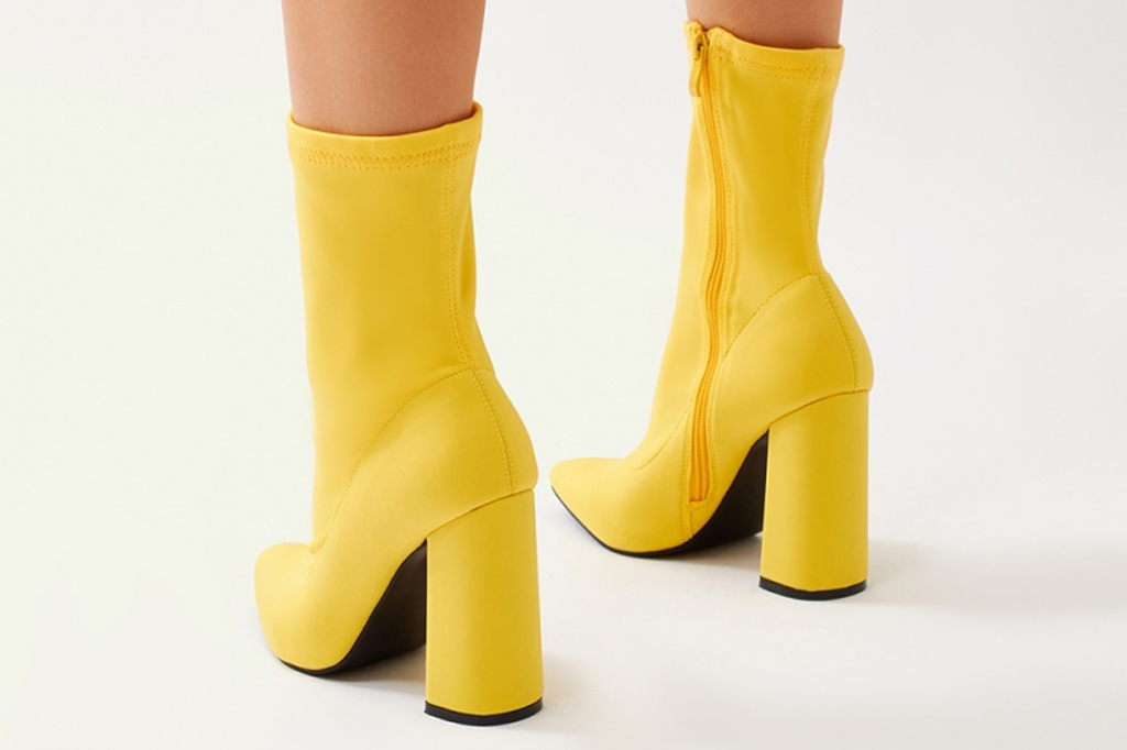 public desire, yellow boots, ankle boots